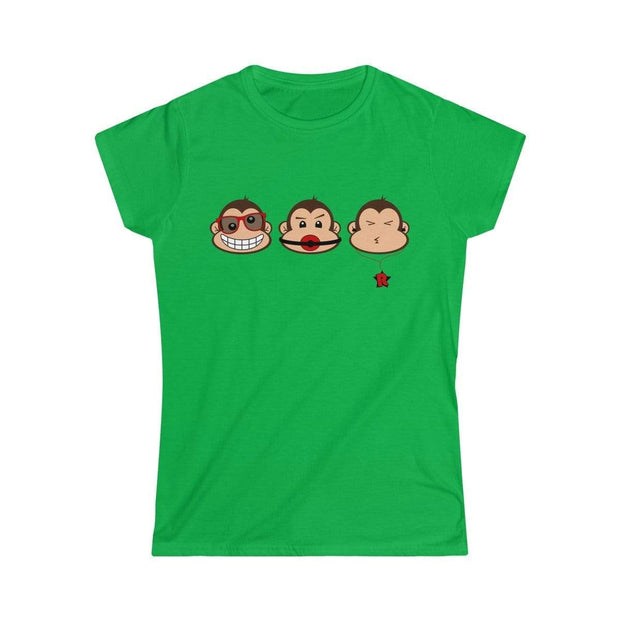 """The 3 Monkeys""  Custom T-Shirt for Women - Awesome, custom designed T-shirts & Art  