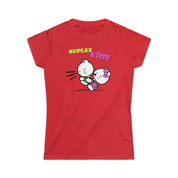 """Suplex Kitty""  Soft-Style T-Shirt for Women - Awesome, custom designed T-shirts & Art  