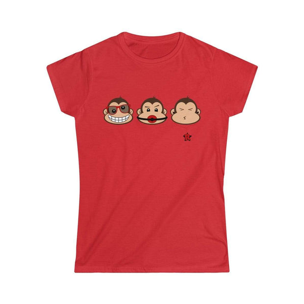 """The 3 Monkeys""  Custom T-Shirt for Women - Designs by Royi .B."
