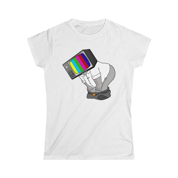 """Fart on TV""  Custom T-Shirt for Women - Awesome, custom designed T-shirts & Art  
