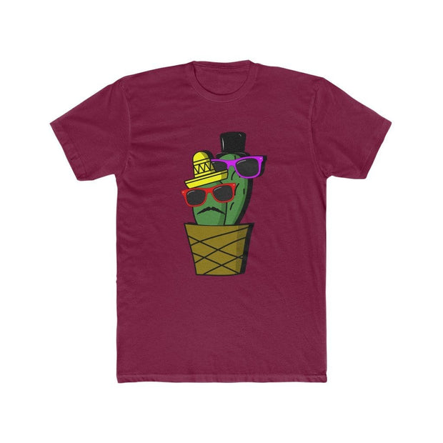 "Printify T-Shirt Solid Cardinal Red / S ""Cactus #6"" T-shirt for Men"