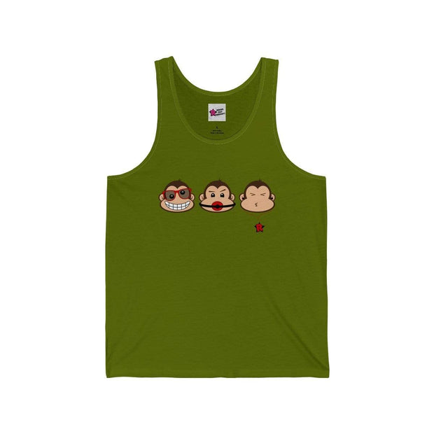 """The 3 Monkeys"" Tank Top for Men - Designs by Royi .B."