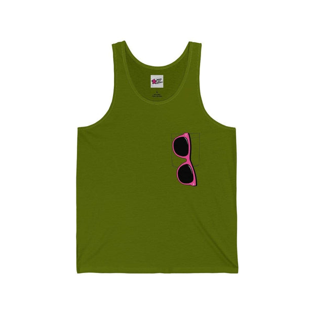 """Pink Sunglasses"" Tank Top for Men - Awesome, custom designed T-shirts & Art  