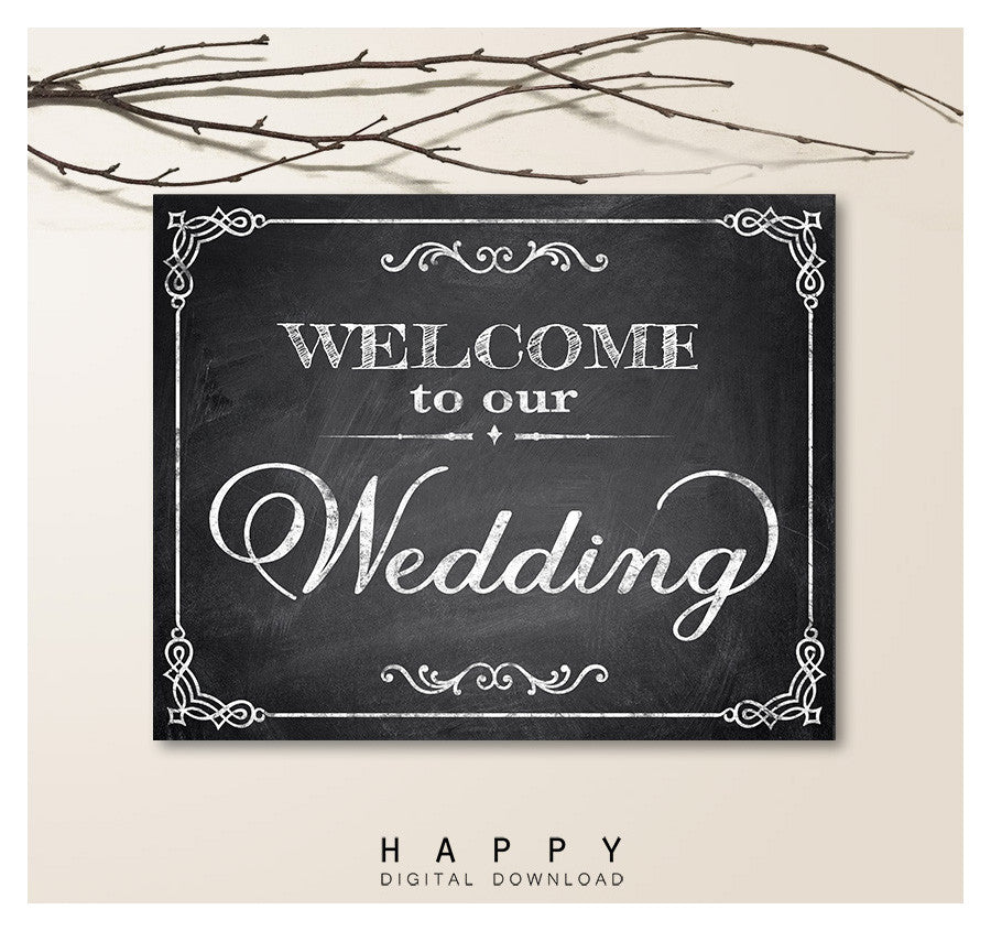 Printable Chalkboard - Welcome Wedding Sign