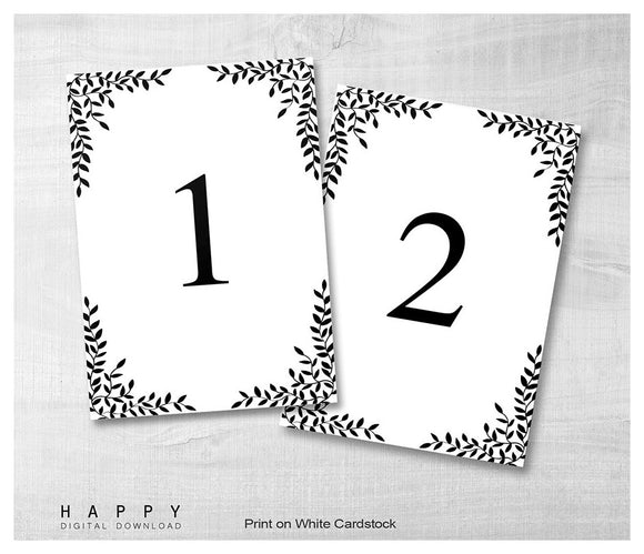 DIY Wedding Table Number Happy Digital Download - Table number template