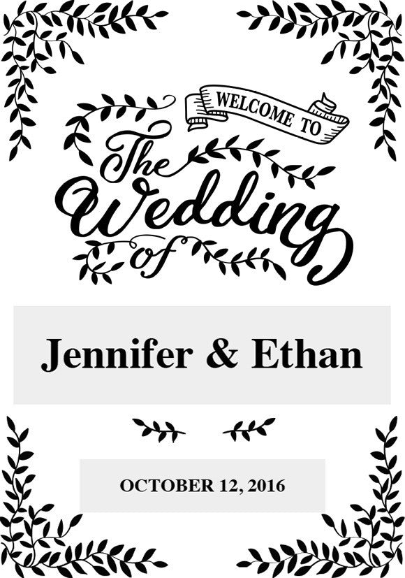 picture regarding Welcome Sign Template known as Rustic Leaves - Welcome Indication template