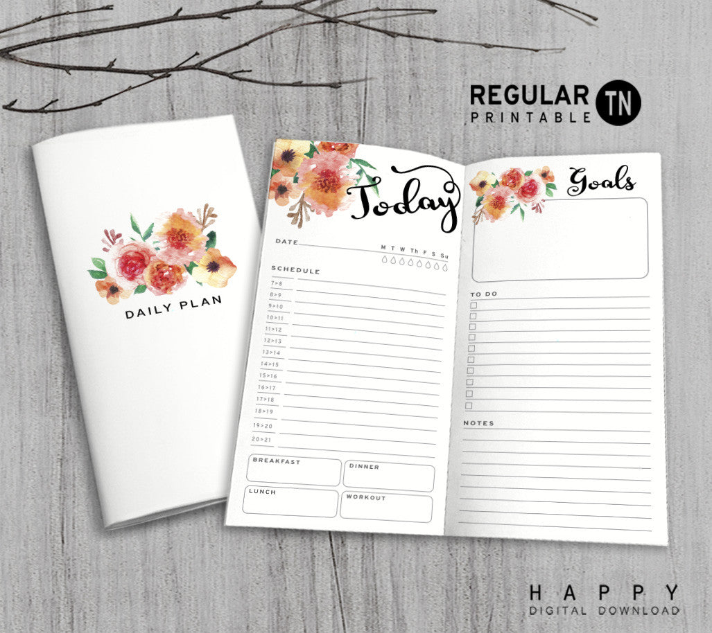 printable daily planner inserts for midori traveler u0026 39 s notebook bullet journal