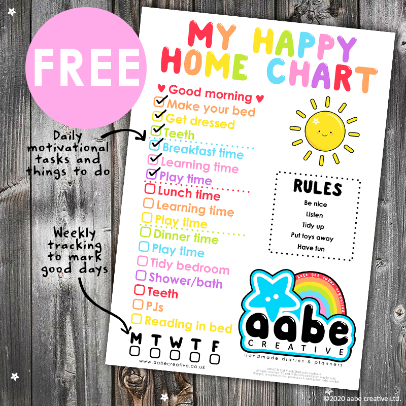 My Happy Home Chart