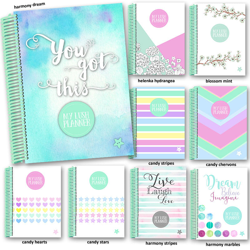 My Lush Planner spiral mint covers