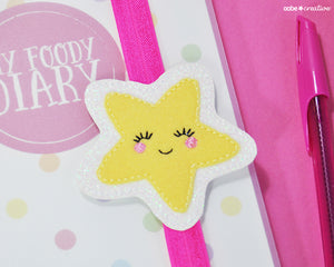 Cutie Star (yellow) Book Band - Handmade by aabe creative