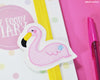 Doris Flamingo Book Band - Handmade by aabe creative