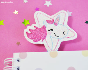 Una Unicorn Bookmark - Handmade by aabe creative