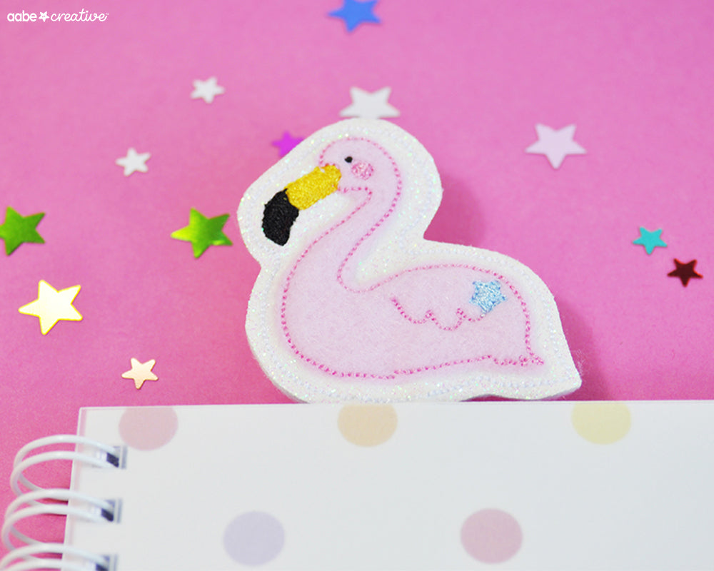 Doris Flamingo Bookmark - Handmade by aabe creative