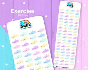 My Lush Stickers: Exercise