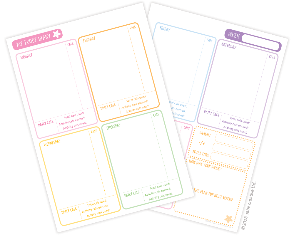 My Foody Diary: Calorie Tracker INSERTS