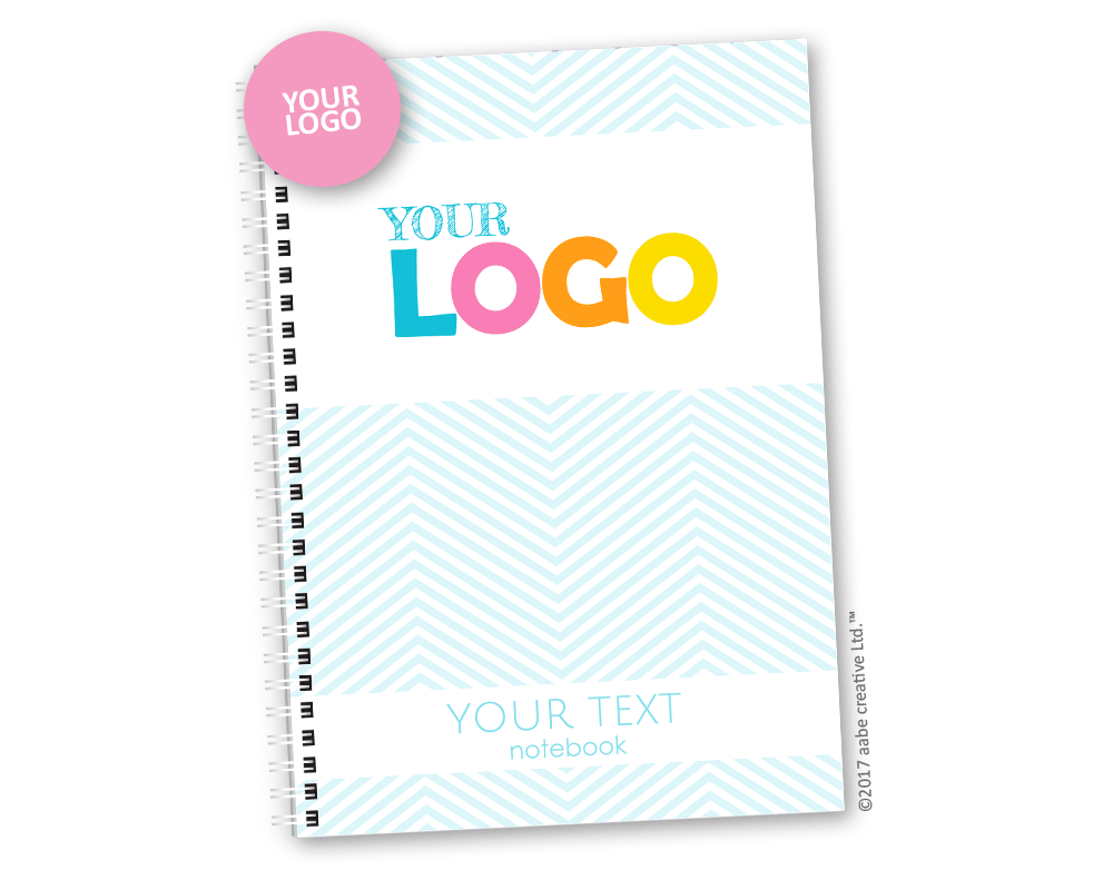 Custom Logo Notebook - Handmade by aabe creative