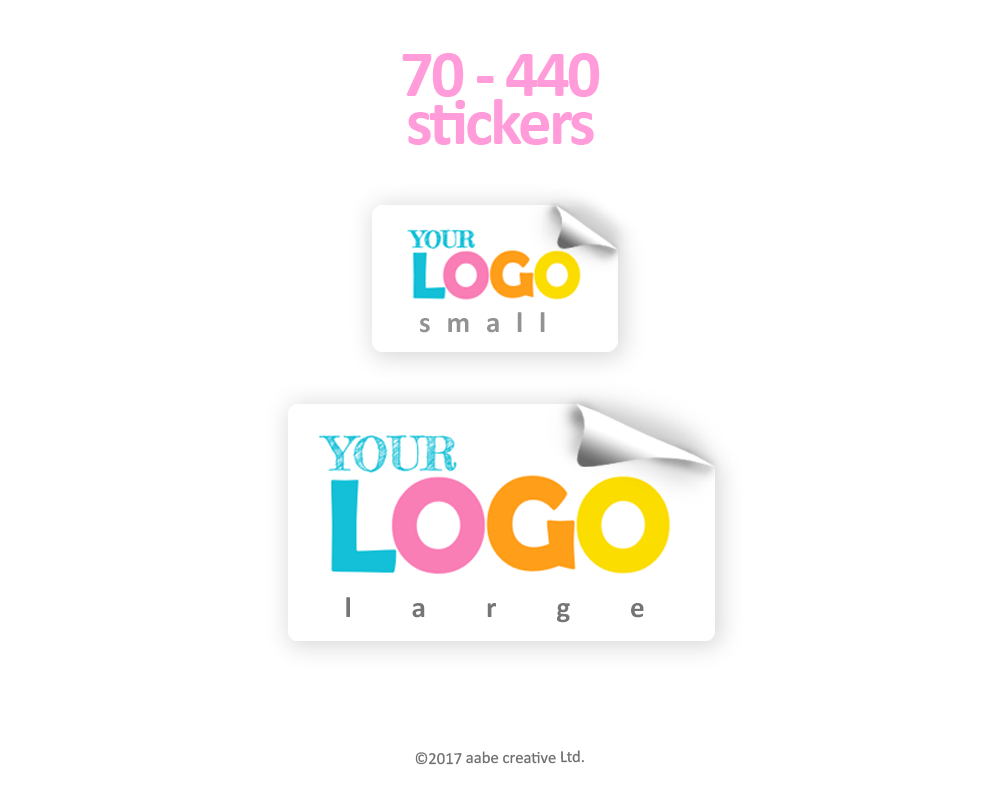 Rectangle Custom Logo Stickers - Handmade by aabe creative