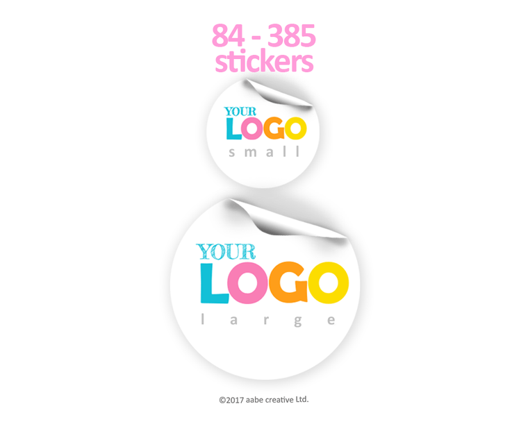 Round Custom Logo Stickers - Handmade by aabe creative