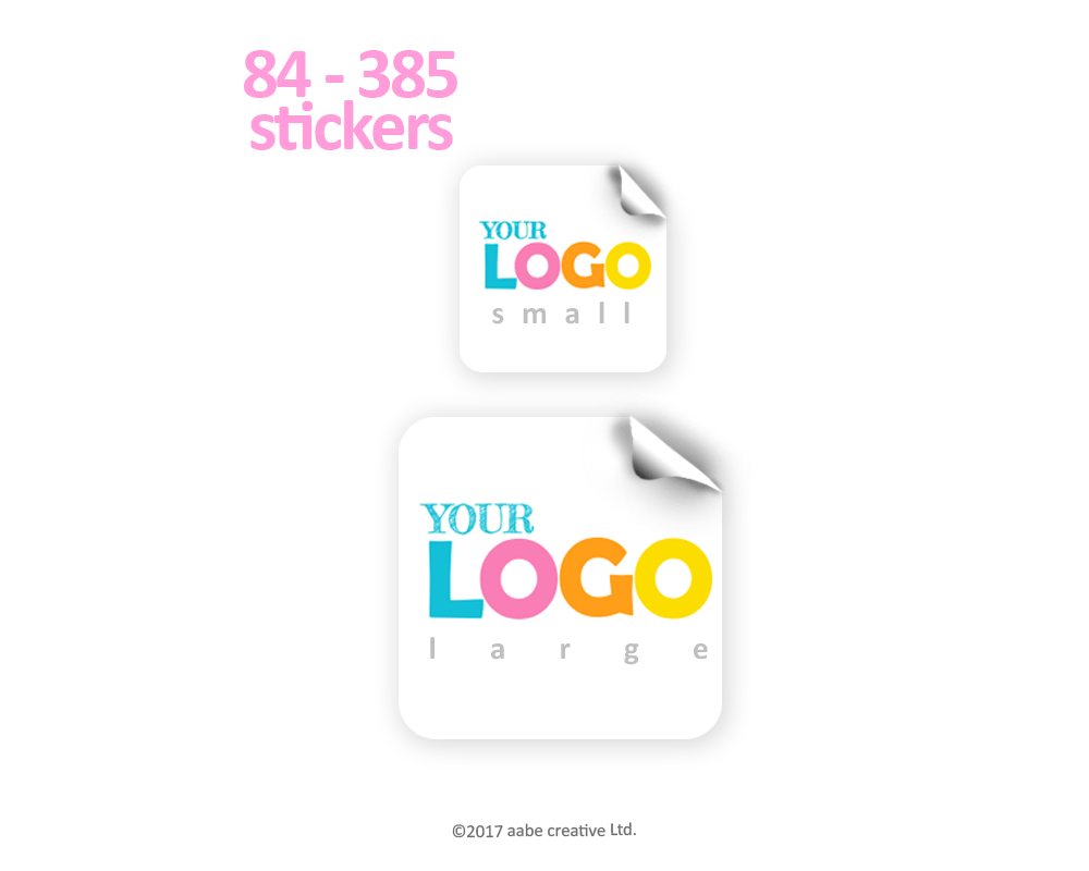 Square Custom Logo Stickers - Handmade by aabe creative