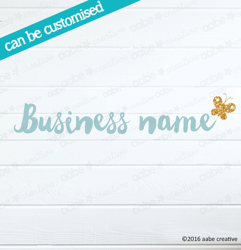 BUTTERFLY Pre-made Logo Design - Handmade by aabe creative