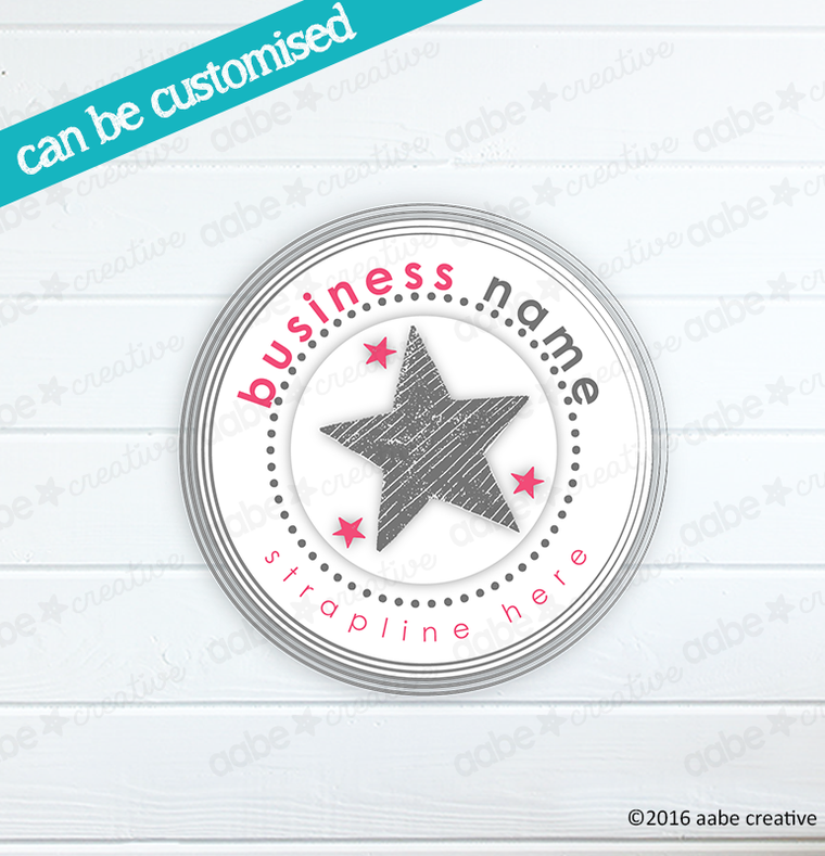 STAR Pre-made Logo Design - Handmade by aabe creative