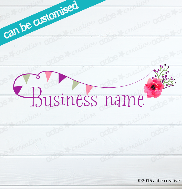 BUNTING #2 Pre-made Logo Design - Handmade by aabe creative