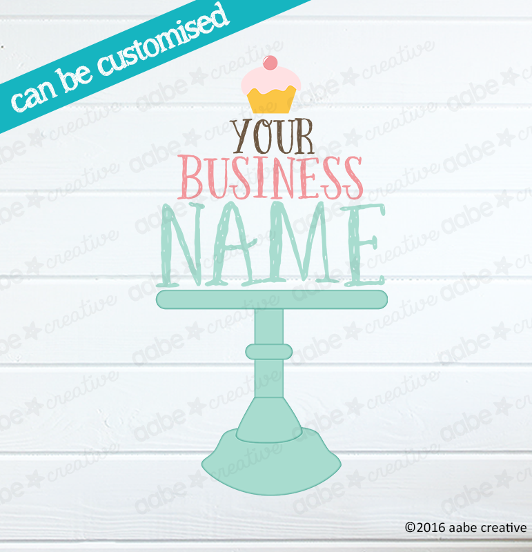 CAKE STAND Pre-made Logo Design - Handmade by aabe creative