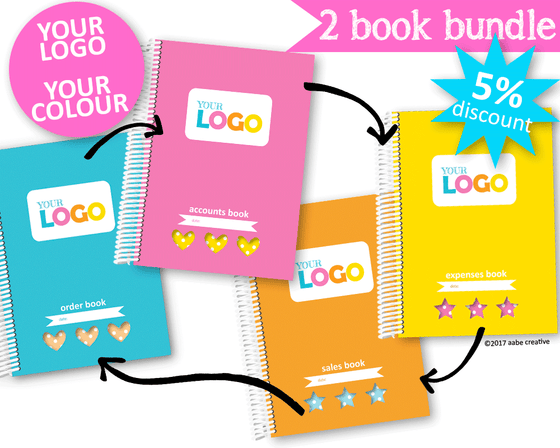 2 Book Bundle: Super Deluxe Business Books - Handmade by aabe creative