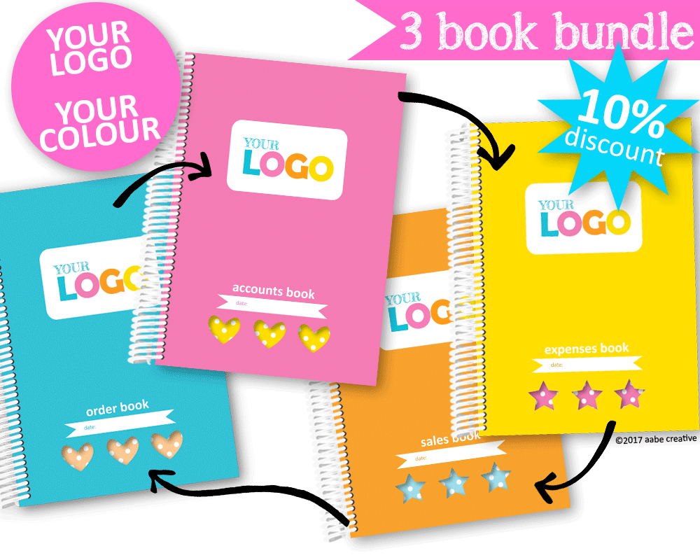 3 Book Bundle: Deluxe Custom Business Books - Handmade by aabe creative
