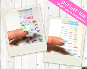 Glasses stickers - Handmade by aabe creative