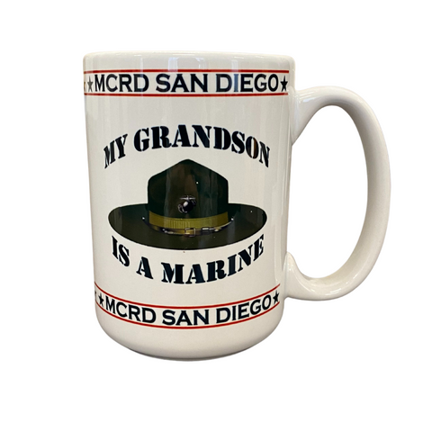 My Grandson Is a Marine Mug