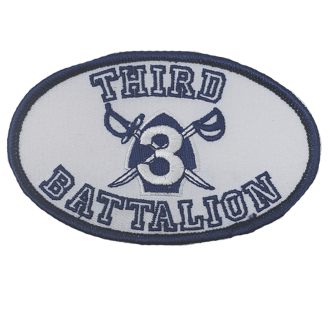 3rd Battalion Crest Oval Patch Patches