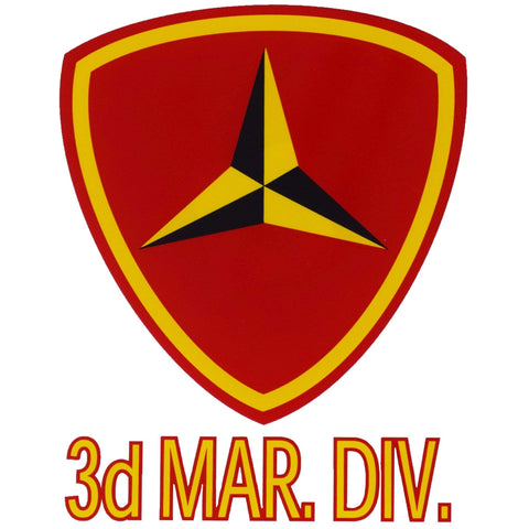 3rd Marine Division Decal Decal