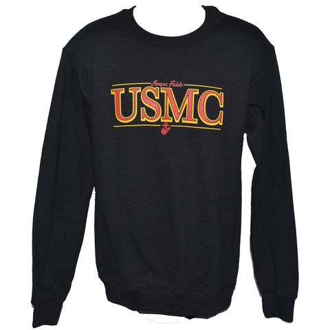 Crewneck USMC Sweatshirt - Black