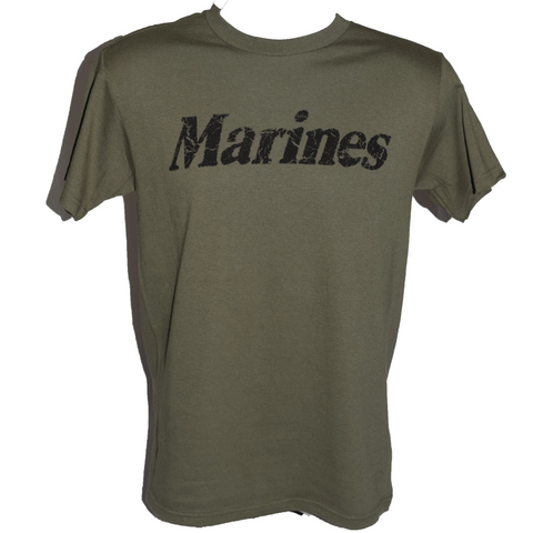 Youth Marines T-Shirt - Military Green
