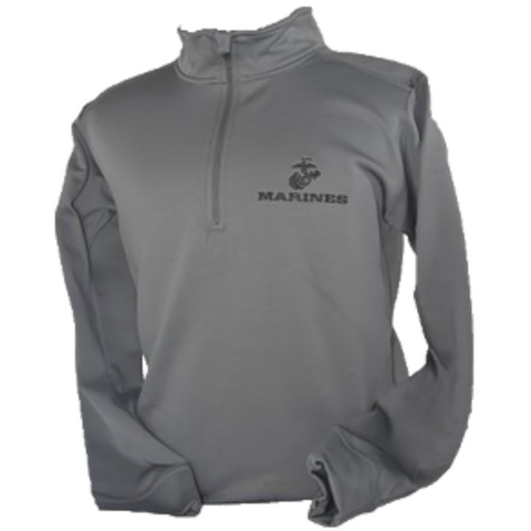EGA Marines 1/4 Zip Charcoal