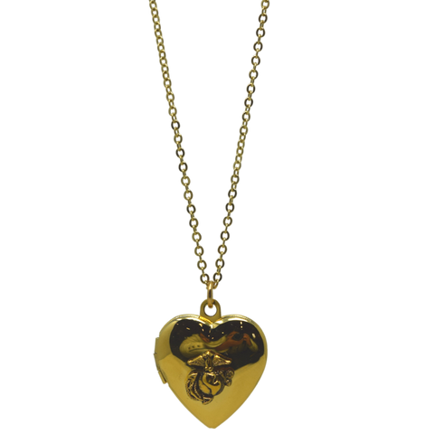 Heart Locket EGA Necklace