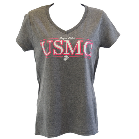 Ladies V-Neck USMC T-Shirt