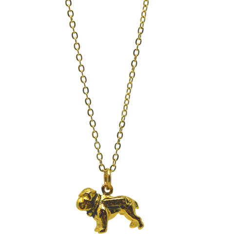 Marine Bulldog Necklace Gold