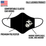 Premium EGA Marine Corps Face Mask made in the United States.
