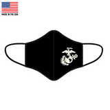 Premium polyester EGA Marine Corps Face Mask made in the United States