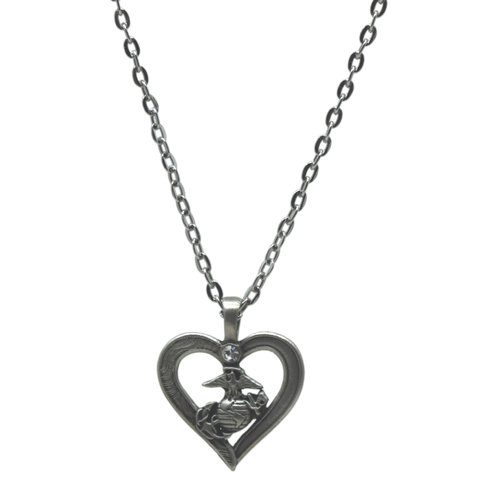 Pewter Heart EGA Necklace
