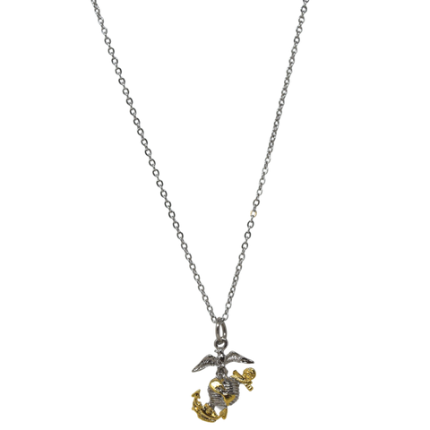 Small 2-tone EGA necklace