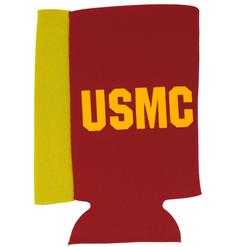 USMC Can Cooler Red