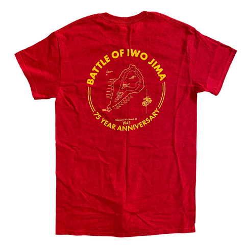 Iwo Jima 75th Anniversary Battle Map T-Shirt