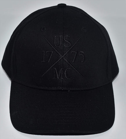 Black 1775 X Cap Hats