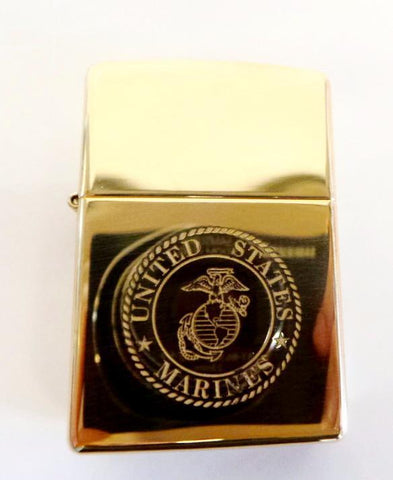 Brass EGA Lighter - Gold Lighters