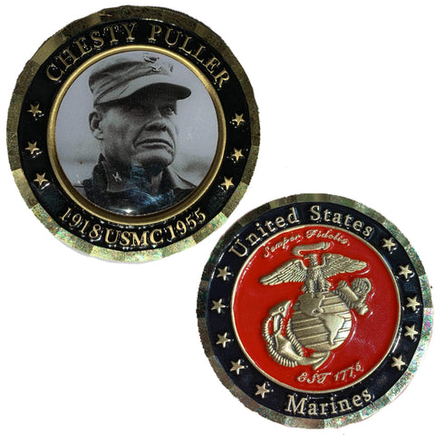 Chesty Puller Coin Challenge Coins