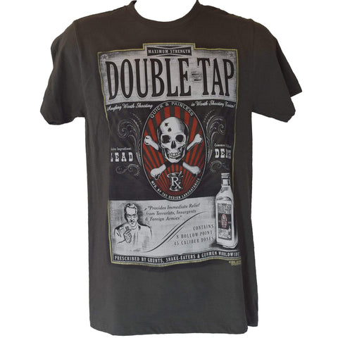 Double Tap Graphic T-Shirt - Charcoal T-Shirt