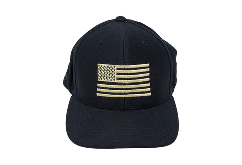 Dry-Fit Flag Hat in Black Hats